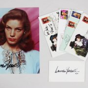 Lauren Bacall Signed 8x10 Photo, (4) First Day Cover Cachets (FDC) & Index Card - JSA