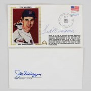 Ted Williams & Joe DiMaggio HOFer's Signed Envelopes - JSA