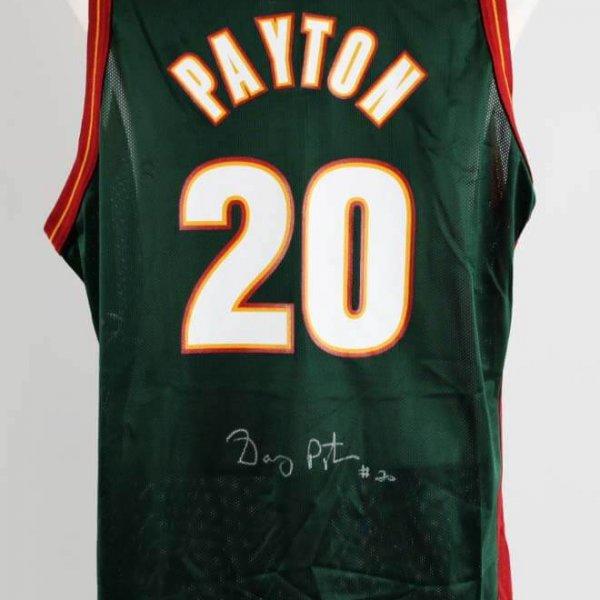 Gary Payton Signed Seattle SuperSonics Jersey - COA JSA