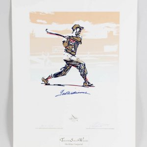 Ted Williams Signed Boston Red Sox Print (Carlo Beninati ) 24.75×32 HC-G 7/38 – JSA