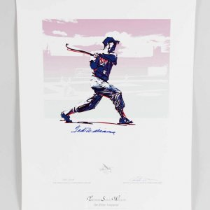 Ted Williams Signed Boston Red Sox Print (Carlo Beninati) 24.75 x 32 LE 205/209 Print - JSA