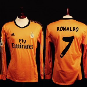 A Cristiano Ronaldo Game-Used #7 Real Madrid CF Away Shirt.  5/7/2014 Real Madrid v Real Valladolid.