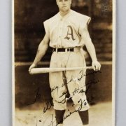 Philadelphia Athletics - Jimmie Foxx Signed George Burke Photo Postcard - JSA Full LOA