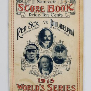 10/12/15 WS Program Score Book - Red Sox vs. Phillies (Feat. Babe Ruth)