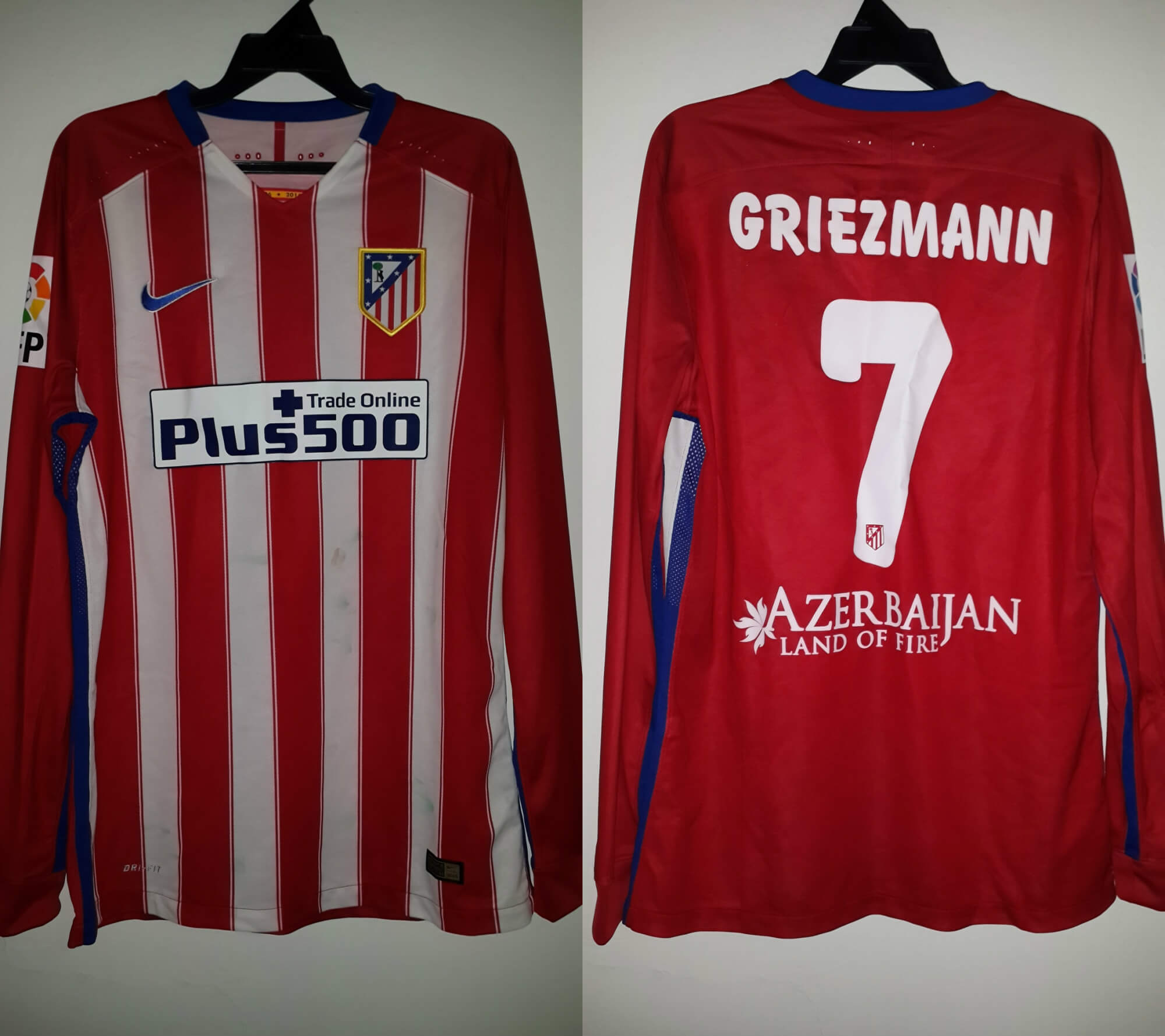 An Antoine Griezmann Game-Used  7 Atlético Madrid Home Shirt 2015 ... 706de1cae