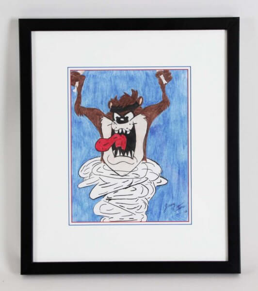 The Tasmanian Devil Animation Art Display Looney Tunes 15.5 x 16