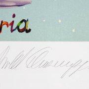 "Arnold Schwarzenegger Signed 21.5 x 26"" LE Charity Artwork - JSA"