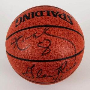 1999-00 Los Angeles Lakers Multi-Signed Basketball - Kobe Bryant etc. - JSA