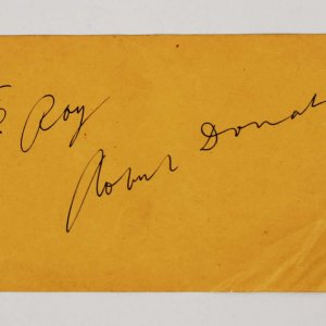 Robert Donat Signed 4x8 Vintage Album Page - COA JSA