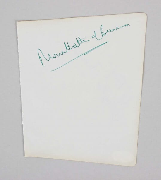 Earl Mountbatten of Burma Signed 5x6 Vintage Cut - COA JSA
