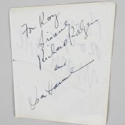 Richard Rodgers, Socar Hammerstein & Duane Eddy Signed 5x6 Cut - COA JSA