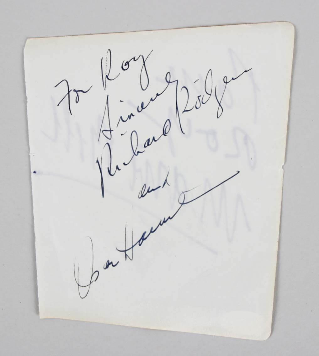 Richard Rodgers Signed Cut w/Socar Hammerstein & Duane Eddy - COA JSA