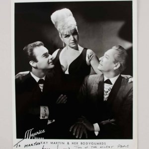 Burlesque Kay Martin &  Her Body Guards Signed 8x10 Original Photo - COA