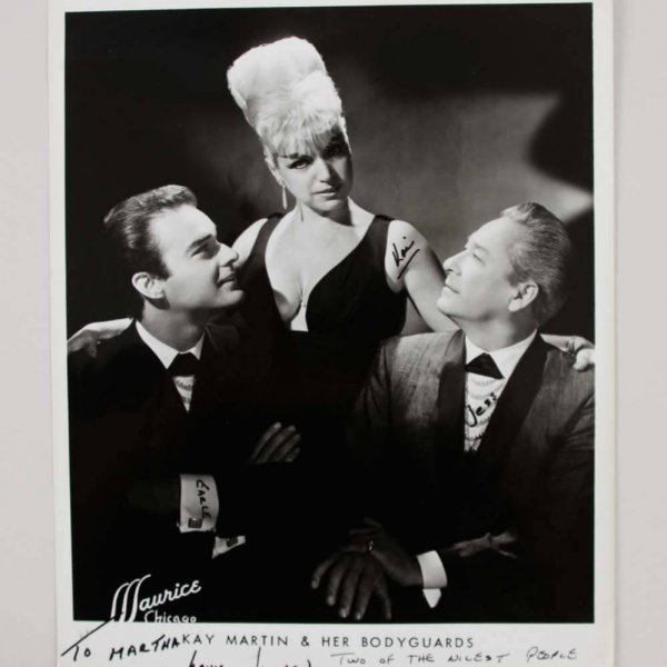 Burlesque Kay Martin &  Her Body Guards Signed 8x10 Original Photo - COA