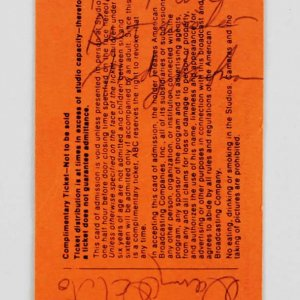 Andy Kaufman & Danny DeVito Signed  Welcome Back Kotter Ticket - COA JSA