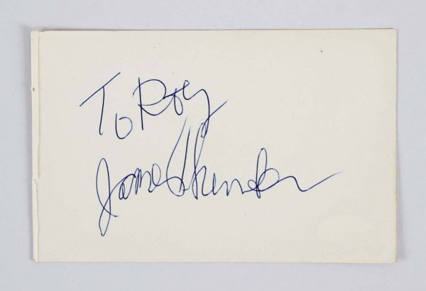 James Thurber Signed 4x6 Vintage Album Page - COA JSA