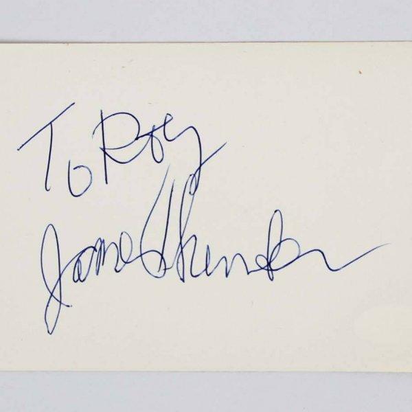 James Thurber Signed 4x6 Vintage Album Page - COA JSA