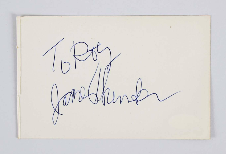 James Thurber Signed Album Page - COA JSA