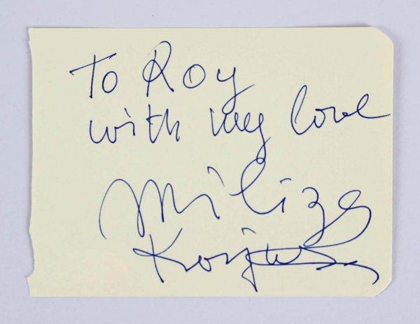 Miliza Korjus Signed 3x5 Vintage Album Page - COA JSA