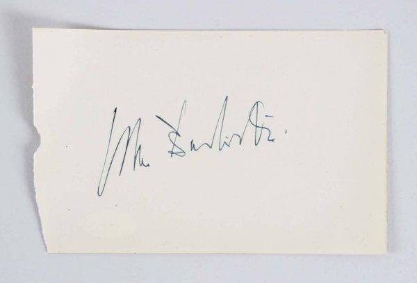 Arthur Rubinstein Signed 4x6 Vintage Album Page - COA JSA