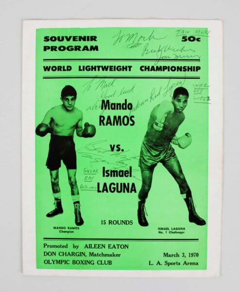 Sugar Ray Robinson Signed 1970 Souvenir Program - JSA Full LOA