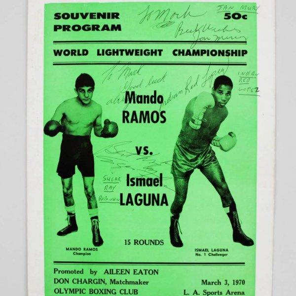 Sugar Ray Robinson Signed 1970 Souvenir Program - JSA Full LOA