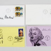 Celebrity Signed First Day Cover (FDC) Cachets & TLS Lot (7) - Janet Leigh, Rita Moreno etc. JSA