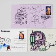 Celebrity Signed First Day Cover (FDC) Lot (7) - Debbie Reynolds, Cheryl Tiegs etc. - JSA