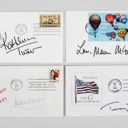 Celebrity Signed First Day Cover (FDC) Cachets (9) - Janet Leigh, Helen Mirren, Sophia Loren etc. - JSA