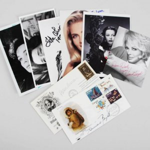 Celebrity Signed Photos & FDC Cachets (8) Hedy Lamarr, Janet Leigh, Helen Mirren etc. - JSA