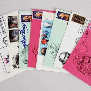 Celebrity Signed First Day Cover (FDC) Cachets Lot (9) – Sally Field, Mira Sorvinoetc. – JSA