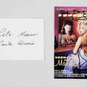 Celebrity Signed Photos, Cuts & Promo Cards (8) Mira Sorvino, Rita Moreno, Florence Henderson etc. - JSA