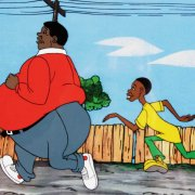 1972 Fat Albert & The Cosby Kids Cartoon Hand-Painted Animation Production Cel Display