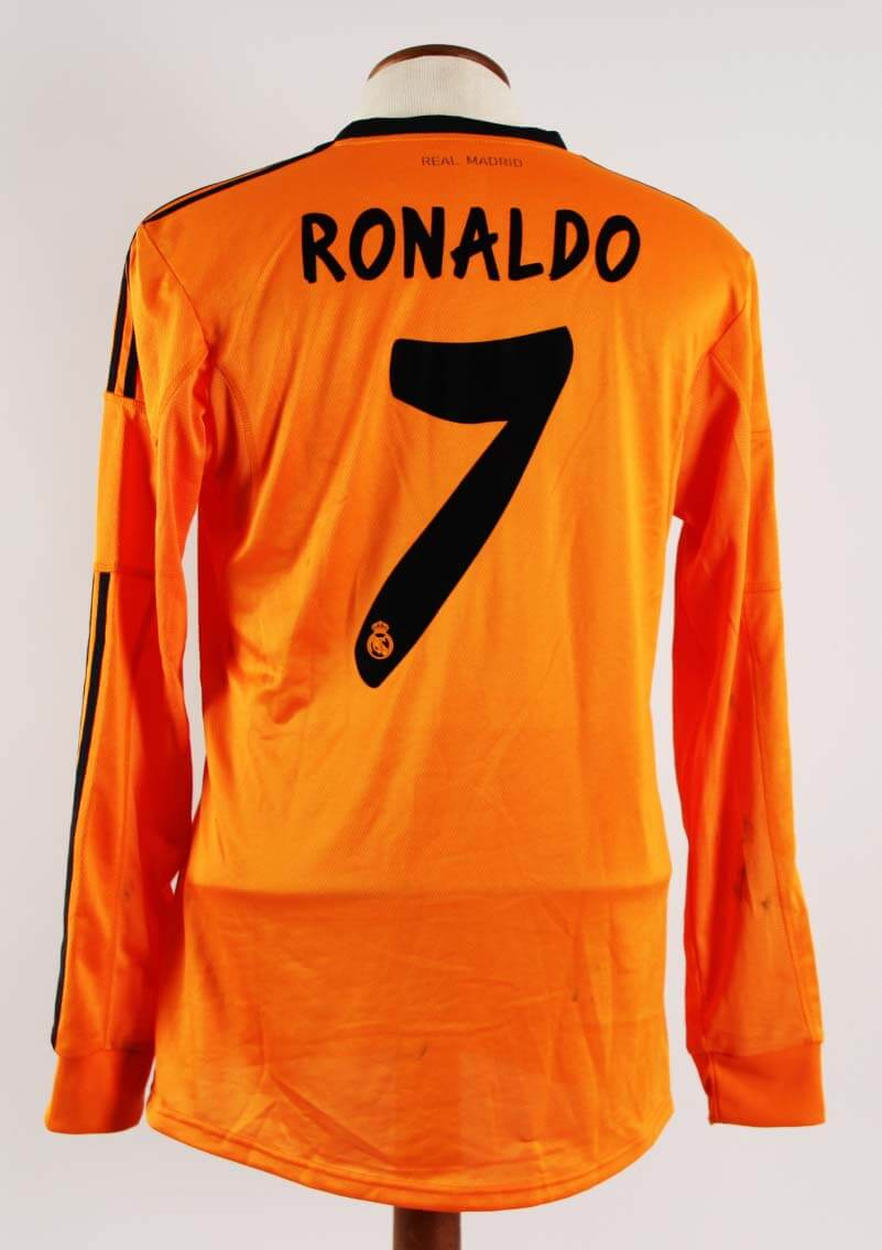 info for c6216 95d85 A Cristiano Ronaldo Game-Used #7 Real Madrid Away Shirt 2013/2014 La Liga