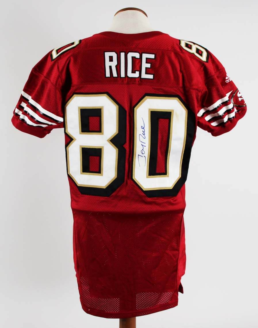 f84a055fbf8 Jerry Rice Game-Worn
