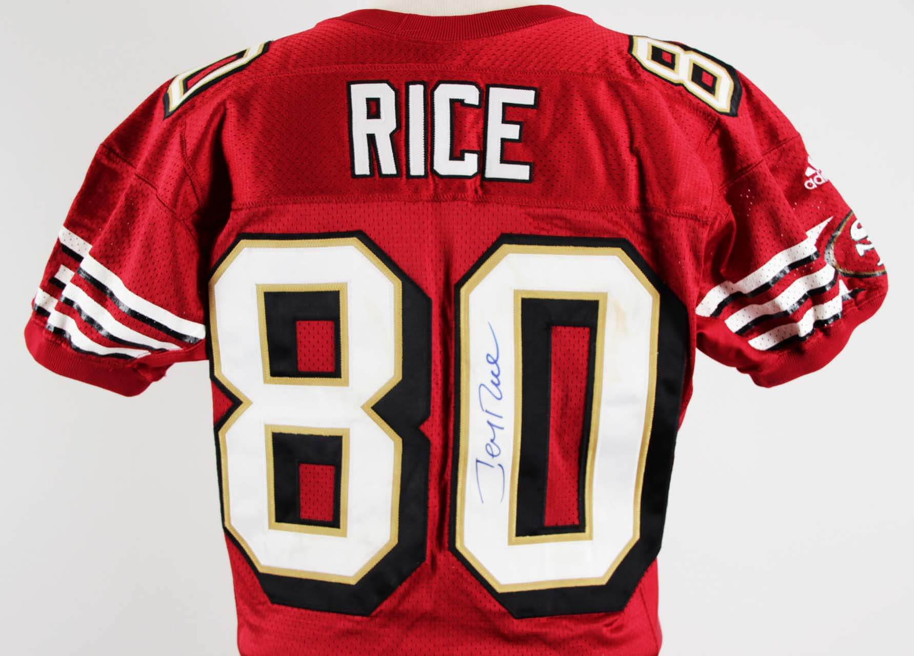 size 40 3edd3 77a0d Jerry Rice Game-Worn, Signed San Francisco 49ers Jersey JSA COA 100% Team |  Memorabilia Expert