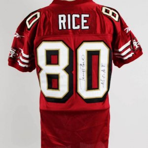 jerry rice game used jersey