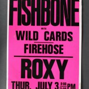 Melvis Present Fishbone Concert Poster @The Roxy Sunset Strip