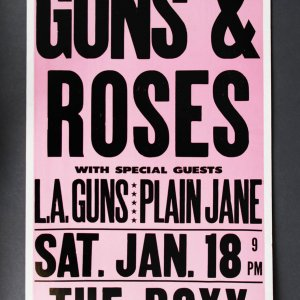 1986 Guns N' Roses Concert Poster @The Roxy Sunset Strip