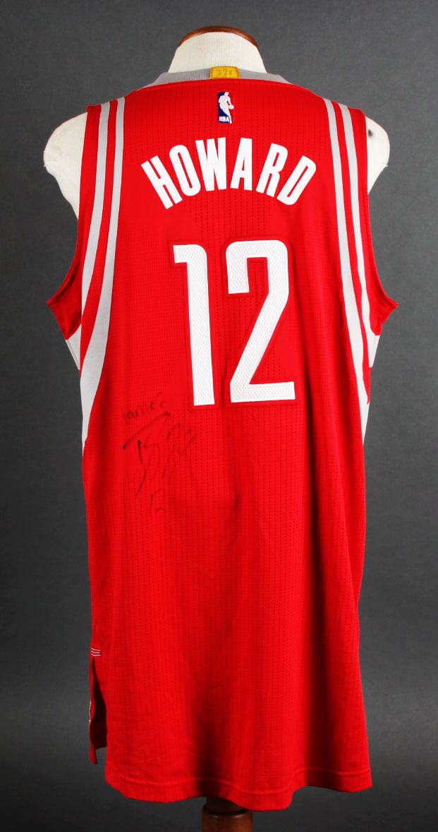 brand new 33f0e 6a9eb 2015-16 Dwight Howard Game-Worn, Signed Houston Rockets Jersey (Playoffs  vs. Warriors Game 2) - JSA