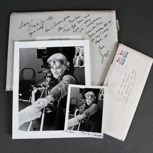 Richard Avedon Signed & Inscribed Photo by Patrick Demarchelier - JSA
