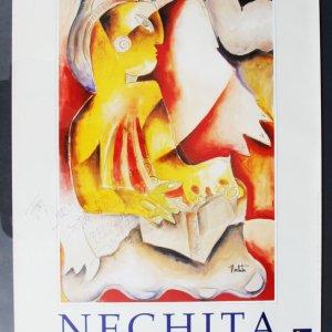 "Alexandra Nechita Signed & Inscribed Starlight Children's Foundation 18.5 x 28"" Lithograph"