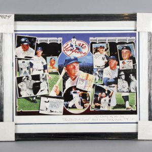 "Mickey Mantle ""The Life of a Legend"" Signed & Inscribed 31 ½"" x 25."" Lithograph ""578/2,401"" - JSA"