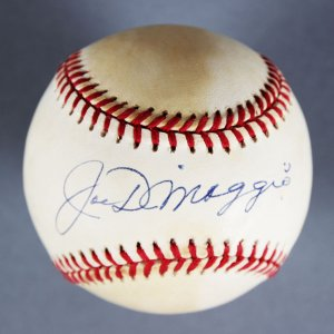 Yankees - Joe DiMaggio OAL (Brown) Single-Signed Ball