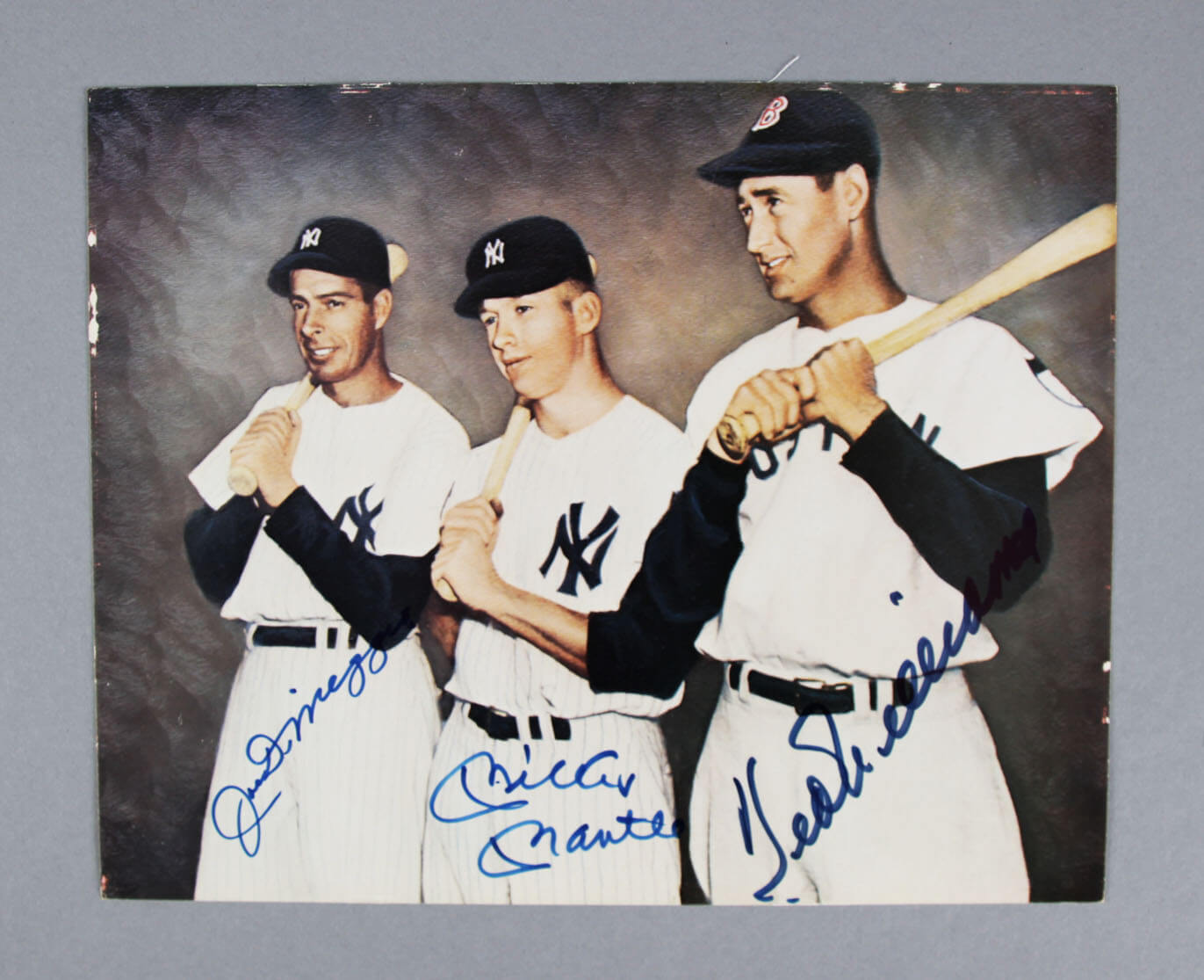 Mantle,  DiMaggio & Ted Williams Signed  Photo - JSA