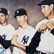 Mickey Mantle, Joe DiMaggio & Ted Williams Multi-Signed 8x10 Color Photo