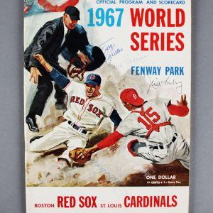 1967 WS Program Signed by Tony Conigliaro 3 & Others - JSA