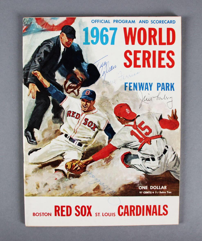 1967 WS Program Signed by Tony Conigliaro 3 & Others - JSA