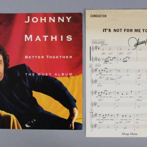 Johnny Mathis Signed Music Sheet & Album Cover (Both Autographed)