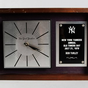 "1979 Bob Turley New York Yankees ""Old Timers Day"" Clock"